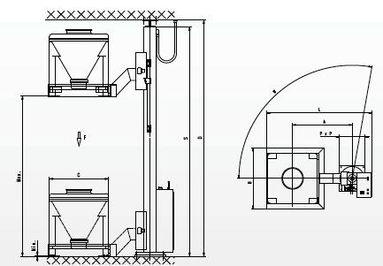 Подъемная колона для контейнера