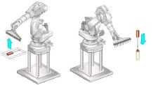 ROB 101 Роботизированный укладчик (устройство Pick+Place) для подачи крышек
